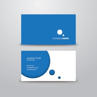 Circle Business Card Free Vector