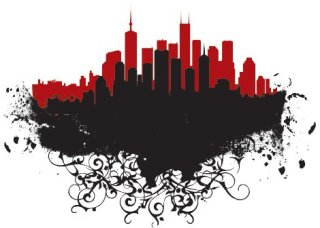 City frame Free Vector