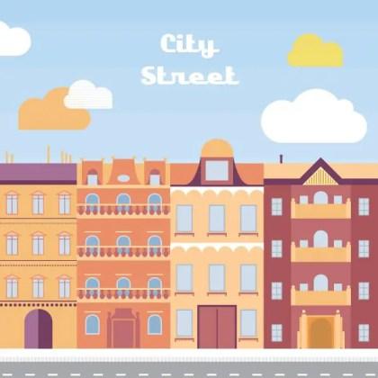 City Street Free Vector