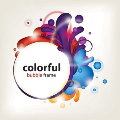 Colorful Bubble Frame Free Vector