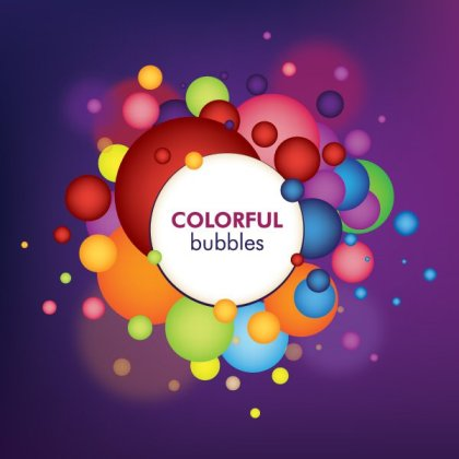 Colorful Bubbles Free Vector