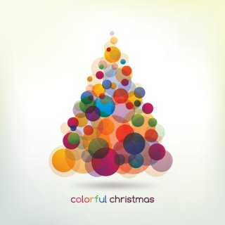 Colorful Christmas Tree Free Vector