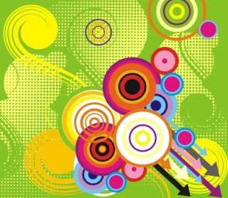 Colorful circles Free Vector