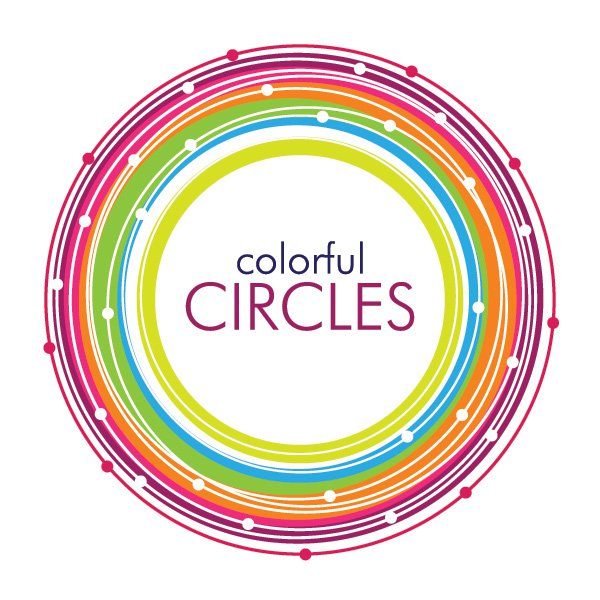Colorful Circles Vector Free Vector