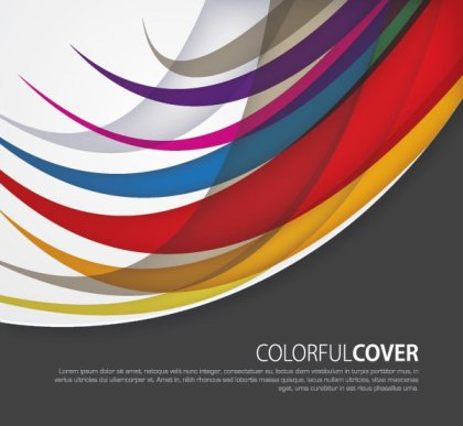 Colorful Cover Free Vector