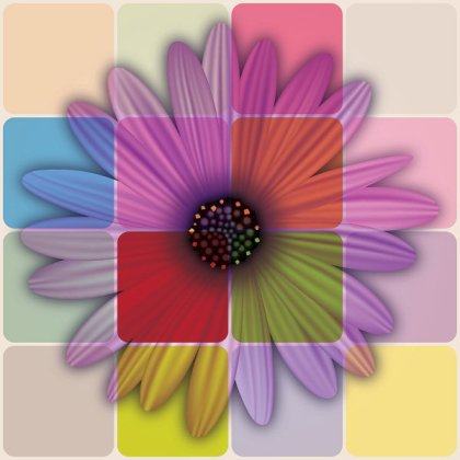 Colorful Daisy Flower Free Vector