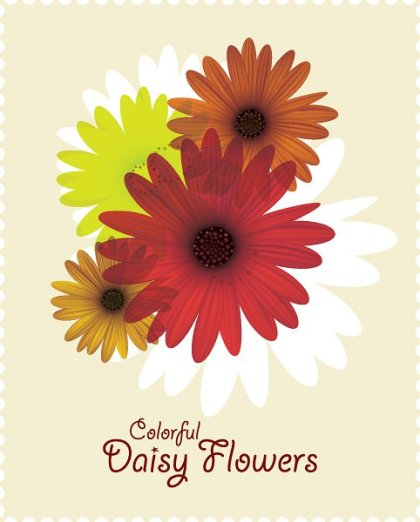 Colorful Daisy Flowers Free Vector