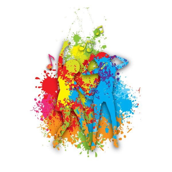 Colorful Dance Free Vector