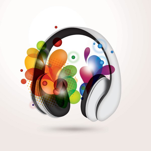Colorful Music Free Vector