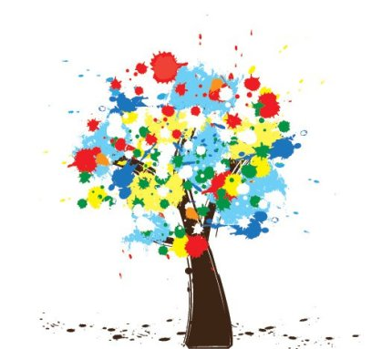 Colorful Tree Free Vector