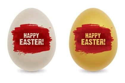 Coloring Easter Eggs Free Vector