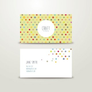 Craft Business Card Free Vector