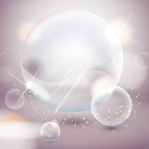 Crystal Bubbles Free Vector