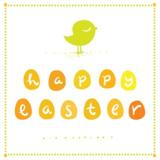Cute Easter Greeting Card Free Vector