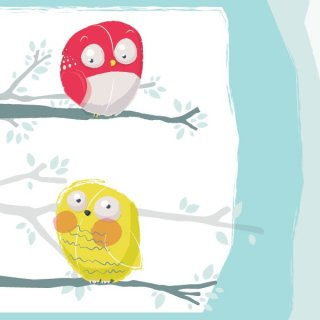 Cute Owls Free Vector