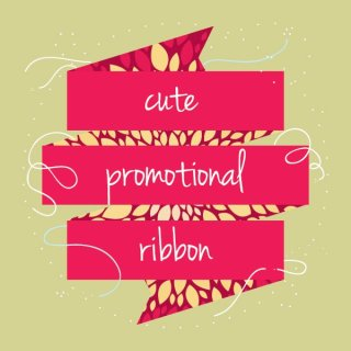 Cute Promotional Ribbon Free Vector