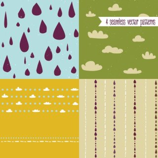 Cute Vector Patterns Free Vector