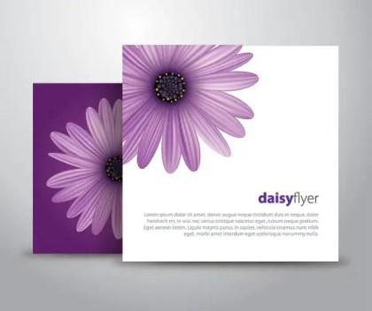 Daisy Flyer Free Vector