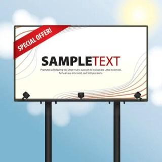 Day Billboard Free Vector
