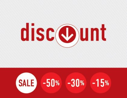 Discount Signs Free Vector