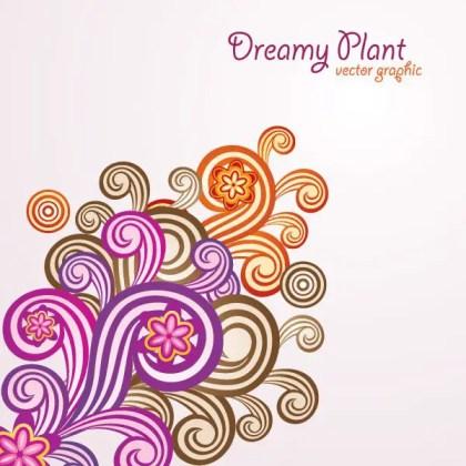 Dreamy Plant Free Vector