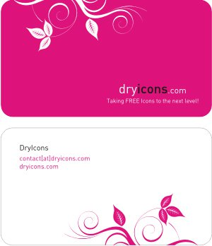 DryIcons Business Card Template Free Vector