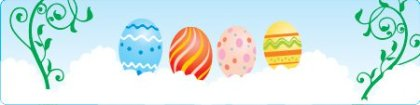 Easter banner Free Vector