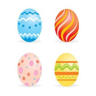 Easter sample eggs Free Vector