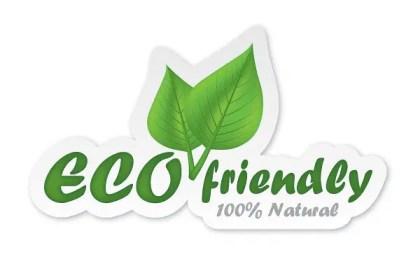Eco Friendly Sticker Free Vector