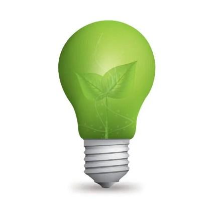 Eco Light Bulb Free Vector