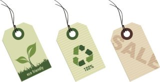 Eco tags Free Vector
