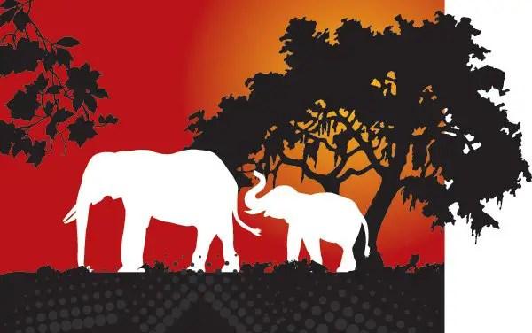 Elephant dream Free Vector
