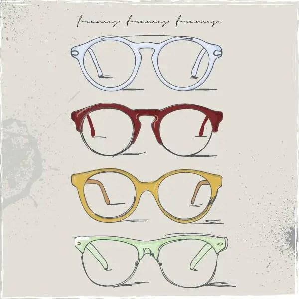 Eye Frames Free Vector