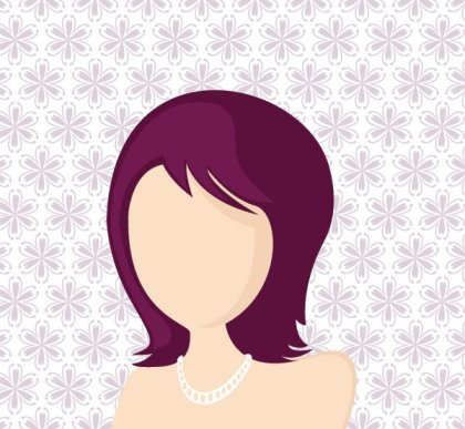 Fashionable girl Free Vector