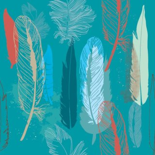 Feathers Pattern Free Vector