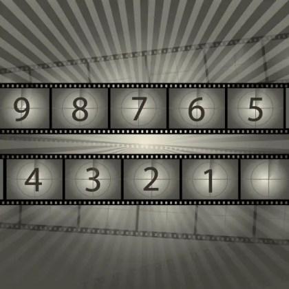 Film Reel Countdown Free Vector