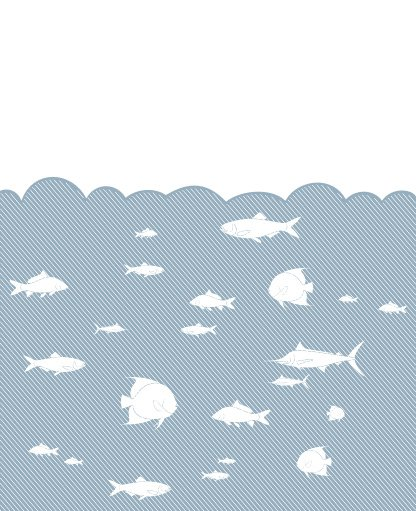 Fish in the sea Free Vector