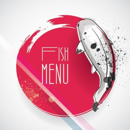 Fish Menu Free Vector