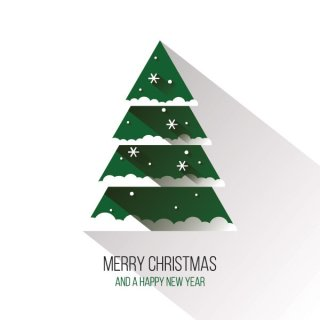 Flat Christmas Tree Free Vector