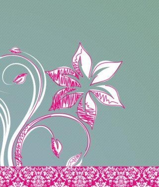 Flower drawing Free Vector
