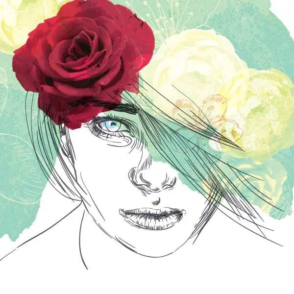 Flower Girl Free Vector