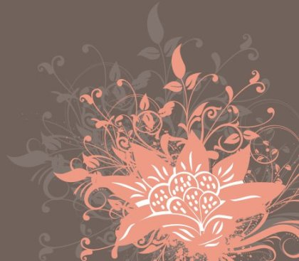 Flower in the dark Free Vector