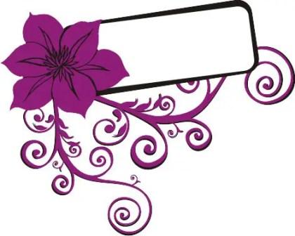 Flower swirls Free Vector