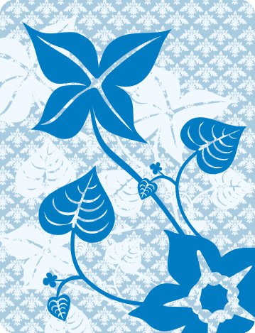 Flowers in blue Free Vector