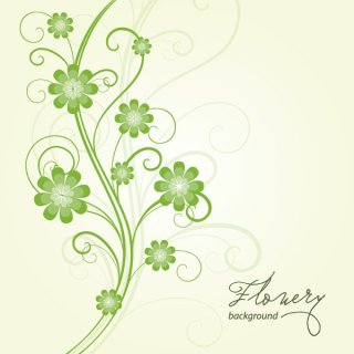 Flowery Background Vector Free Vector
