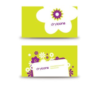 Flowery Business Card Free Vector