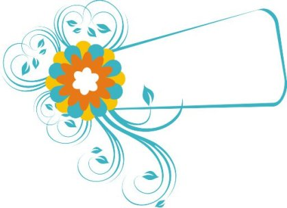 Frame and Flower Free Vector