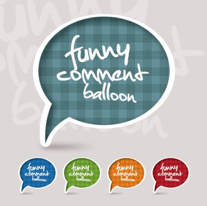 Funny Comment Balloon Free Vector