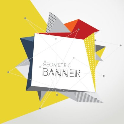 Geometric Banner Free Vector