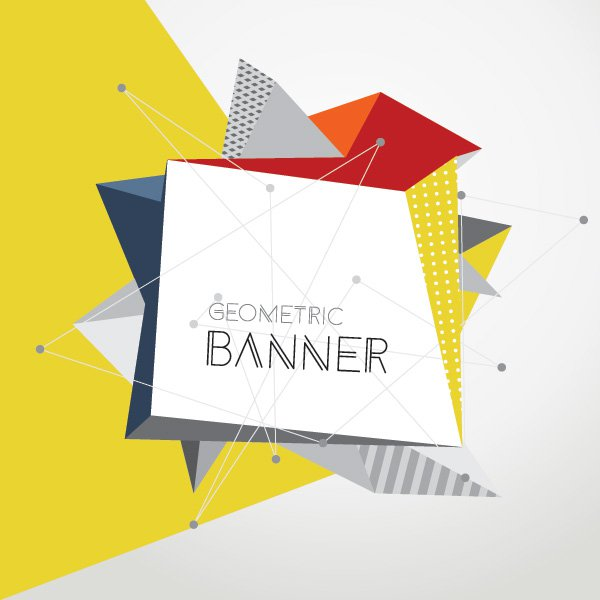 Geometric Banner Free Vector